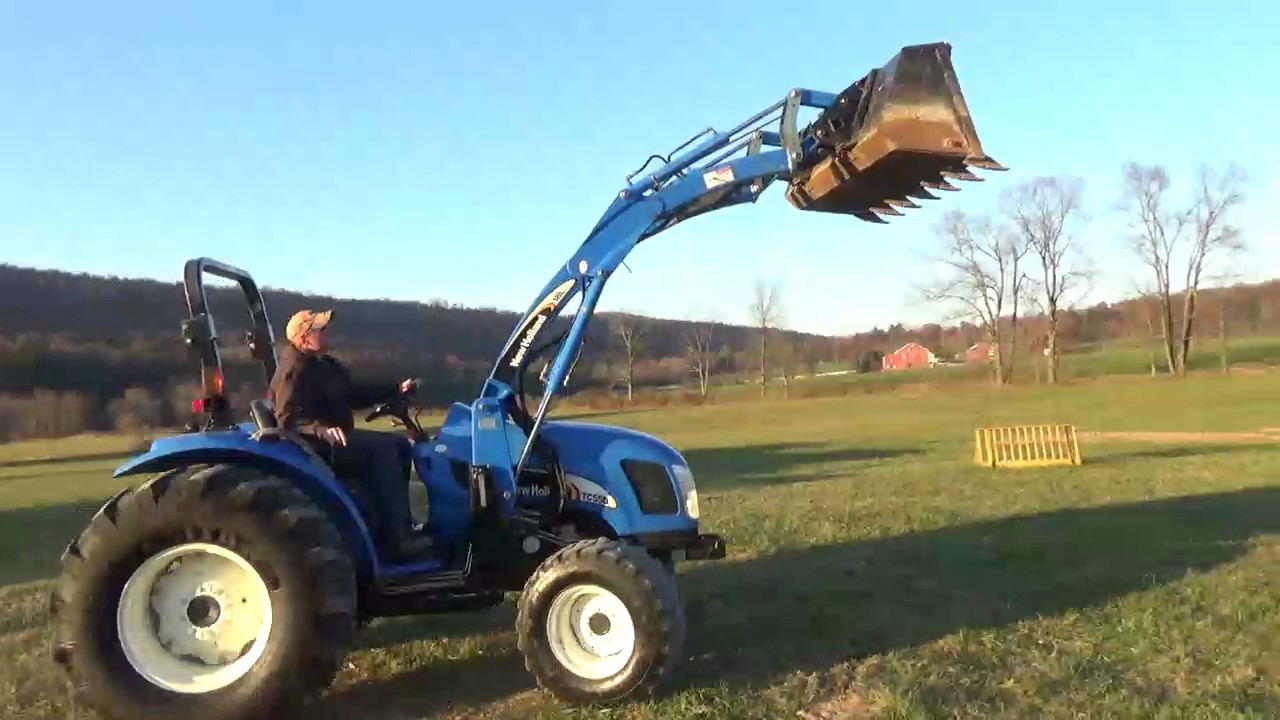 New Holland Tc55da Compact Tractor Loader Skid Steer