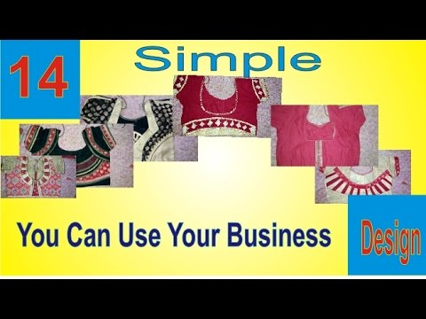 14 Pieces Blouses Back Neck Design Very Easy and Formal Images