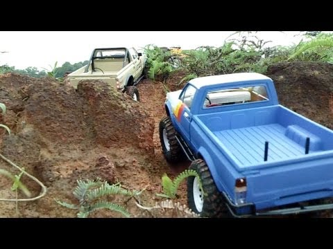RC Offroad Adventures 18 Scale Trucks Trail Finder 2 Defender Hummer Honcho Wraith Tundra Part 2