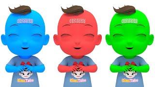 Learn Color with Finger Family Song  색깔이 변하는 마법반창고 핑거패밀리송 영어동요 Nursery rhymes 라임이와 영어 공부 해요!