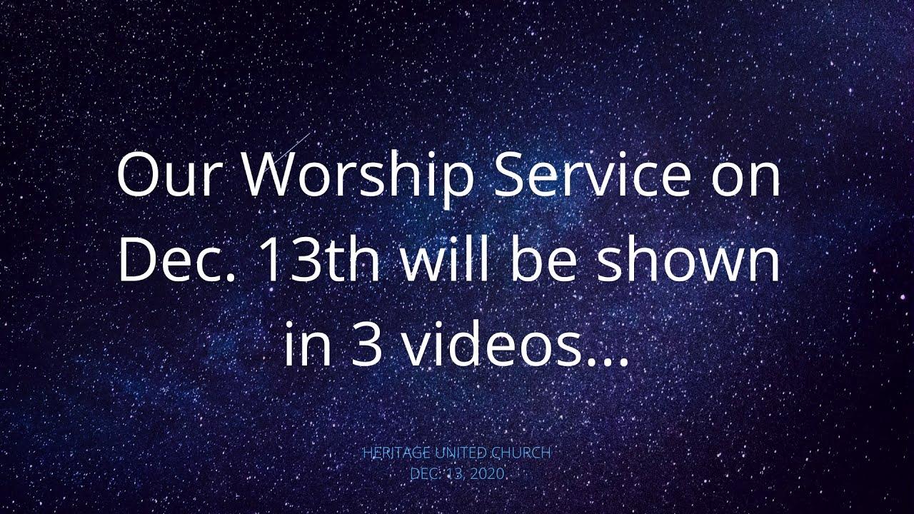 Update re: Dec. 13th Worship Service