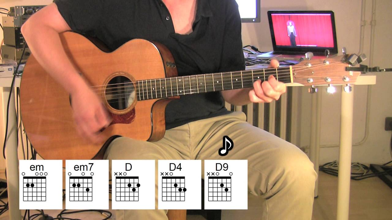 Man On The Moon Acoustic Guitar Chords Rem Youtube