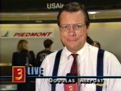 Piedmont Airlines - Final day of service as covered by WBTV Charlotte  August 4, 1989