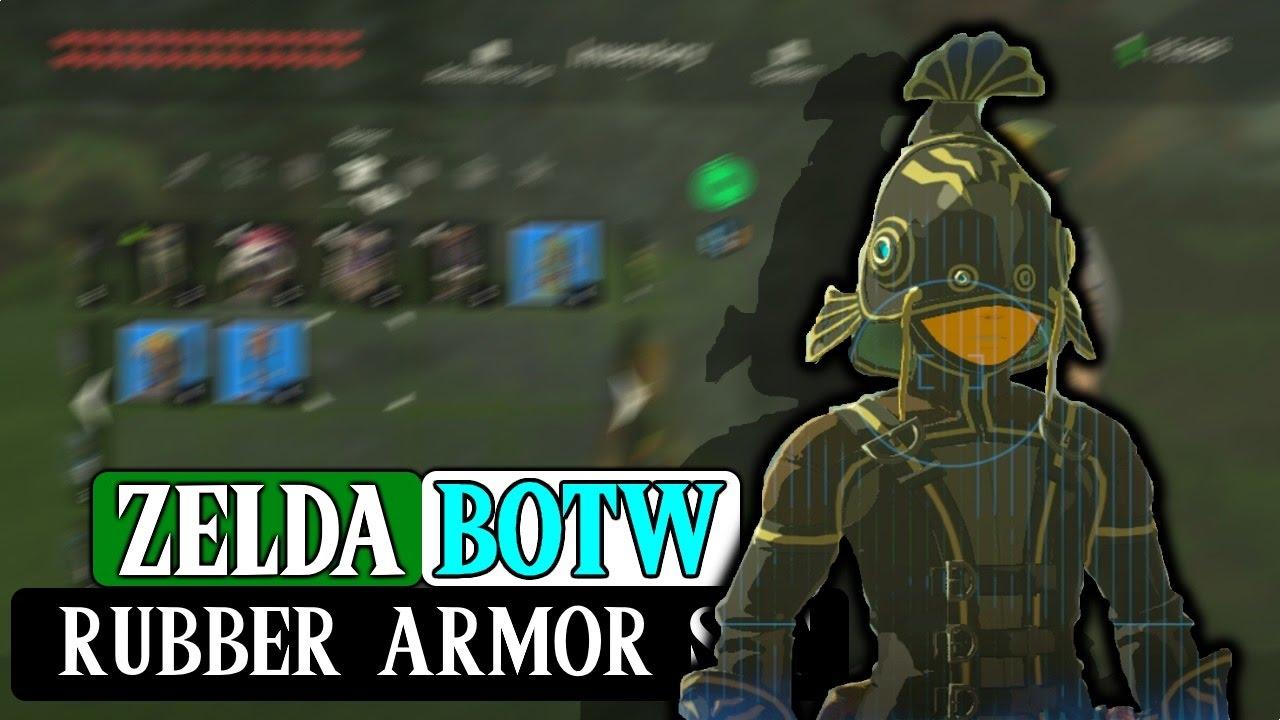 Zelda Botw How To Get Rubber Armor Set Youtube