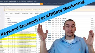 Affiliate Marketing Keyword Research With Ahrefs For Easy To Rank SEO Keywords