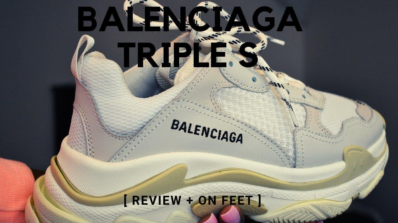 BALENCIAGA TRIPLE S - REVIEW \u0026 ON FEET
