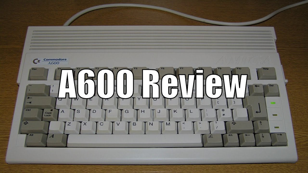 commodore amiga 600 a600 review youtube