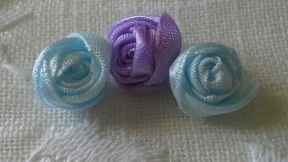 Hello YouTube friends!! These are some mini ribbon flowers that I m...
