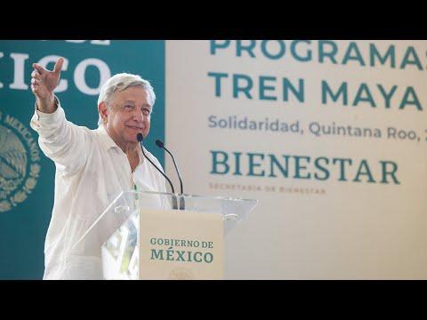 'Programas Integrales de Bienestar', Mejoramiento Urbano y Tren Maya, desde Playa del Carmen