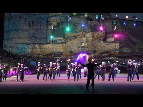 U.S. Naval Forces Europe Band Participates in The Royal Edinburgh Military Tattoo