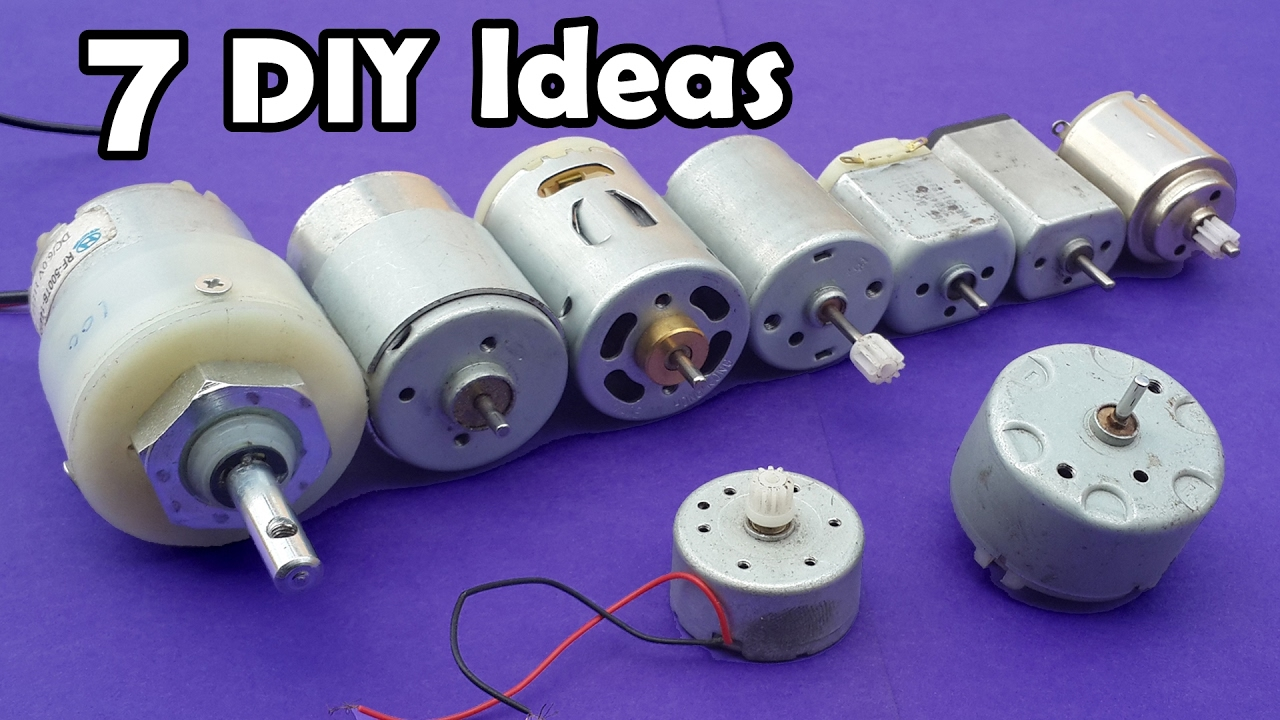7 Useful Diy Ideas From Dc Motor  Compilation  Youtube