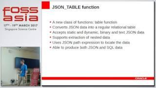 JSON support in MySQL - FOSSASIA 2017