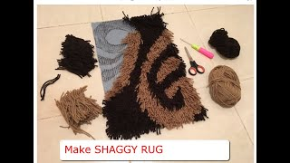 How to Make a Shaggy Rug / shaggy mat (Part 2): Step-by-step Guide