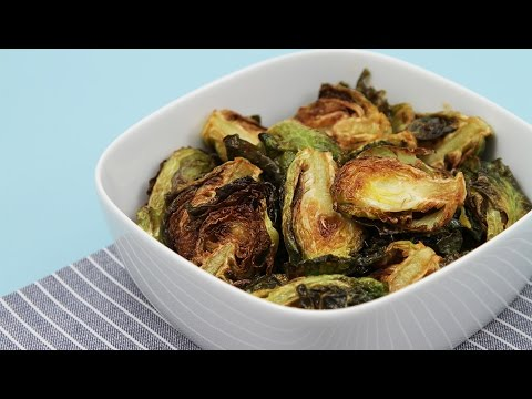 Flash-Fried Brussels Sprouts With Garlic & Lime