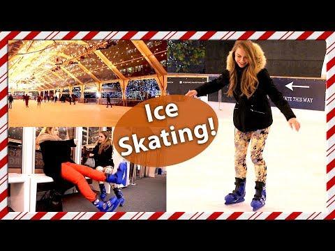 Ice Skating in Canary Wharf - London Vlog! Vlogmas Day 2
