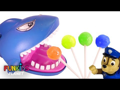 Thumbnail: Learning Colors Videos for Kids: Paw Patrol & Giant Shark Eats Rainbow Chupa Chupa LolliPops