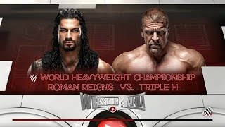 WWE 2K16 - PC Gameplay Roman Reigns vs Triple H - Wrestlemania  [ HD ]