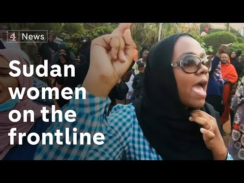 The women on the frontline of the protests in Sudan