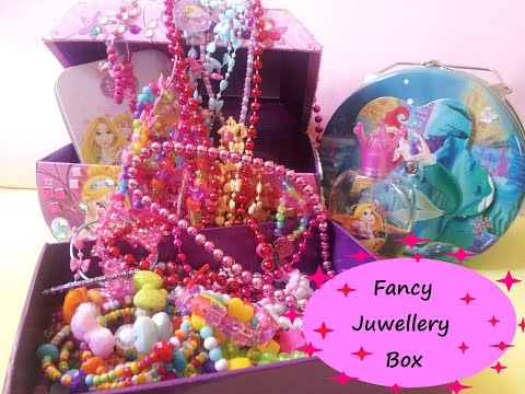 Fancy Jewellery Box and Accessories..Including Rings, Earnings, Bracelets....