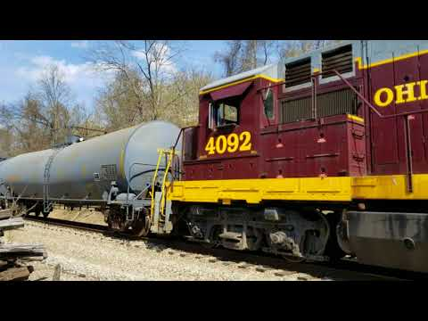 Ohio Central Railroad Shunting, Byesville Scenic Railway Spring 2018 Update, Cambridge Local Chase