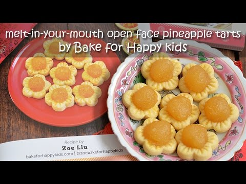 Best Melt-in-your-Mouth Open Faced Pineapple Tarts