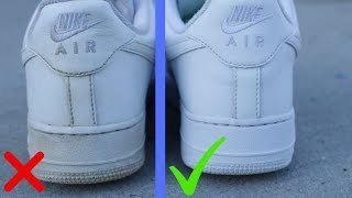 How To Clean White Shoes - How To Clean White Air Force 1