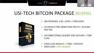 USI TECH BITCOIN Packages - Volle Präsentation DEUTSCH!