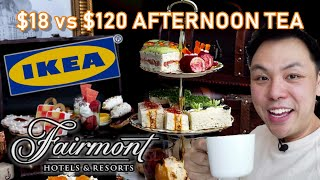 $18 vs $120 AFTERNOON TEA FOR TWO @ IKEA & THE FAIRMONT (Hotel Vancouver) thumbnail