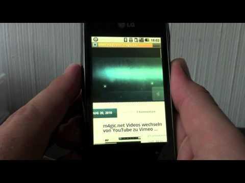 LG GT540 mit Google Android - Vorstellung und Test