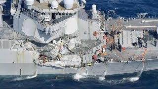 7 sailors remain missing off the coast of Japan after Navy destroyer collides with a tanker