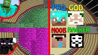 Minecraft Battle: Noob vs PRO vs HACKER vs GOD : SUPER GOD ENDERMAN and ZOMBIE APOCALYPSE Challenge