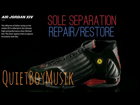 0a1344b564b0f6 Michael Jordan 14 Sneaker Repair Restore (Sole Separation) with  QuietBoyMusik