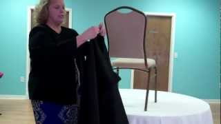 How To Install A Pillowcase Chair Cover(Cover Ups (http://www.coverupslinens.com) shows how to install a pillowcase chair cover! Cover Ups Chair Cover and Linen Rentals, with locations in Atlanta, ..., 2012-03-12T12:22:54.000Z)