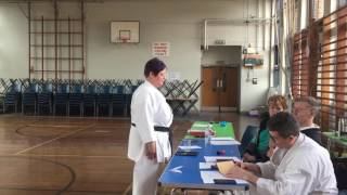 March 2017 Grading Susan Hession 4th Dan