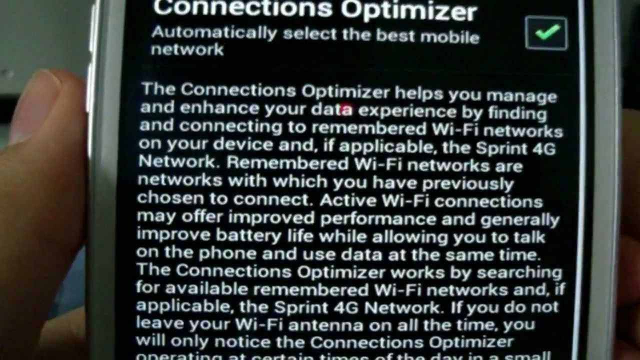 Disable wifi automatically turn on {connections optimizer} (android)