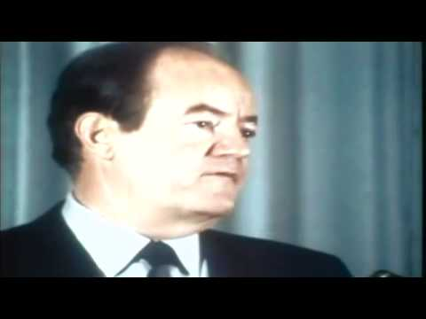 Hubert Humphrey on the New Nixon 1968 ElectionWallDotOrg.flv