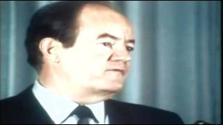 Hubert Humphrey on the New Nixon 1968 ElectionWallDotOrg.flv