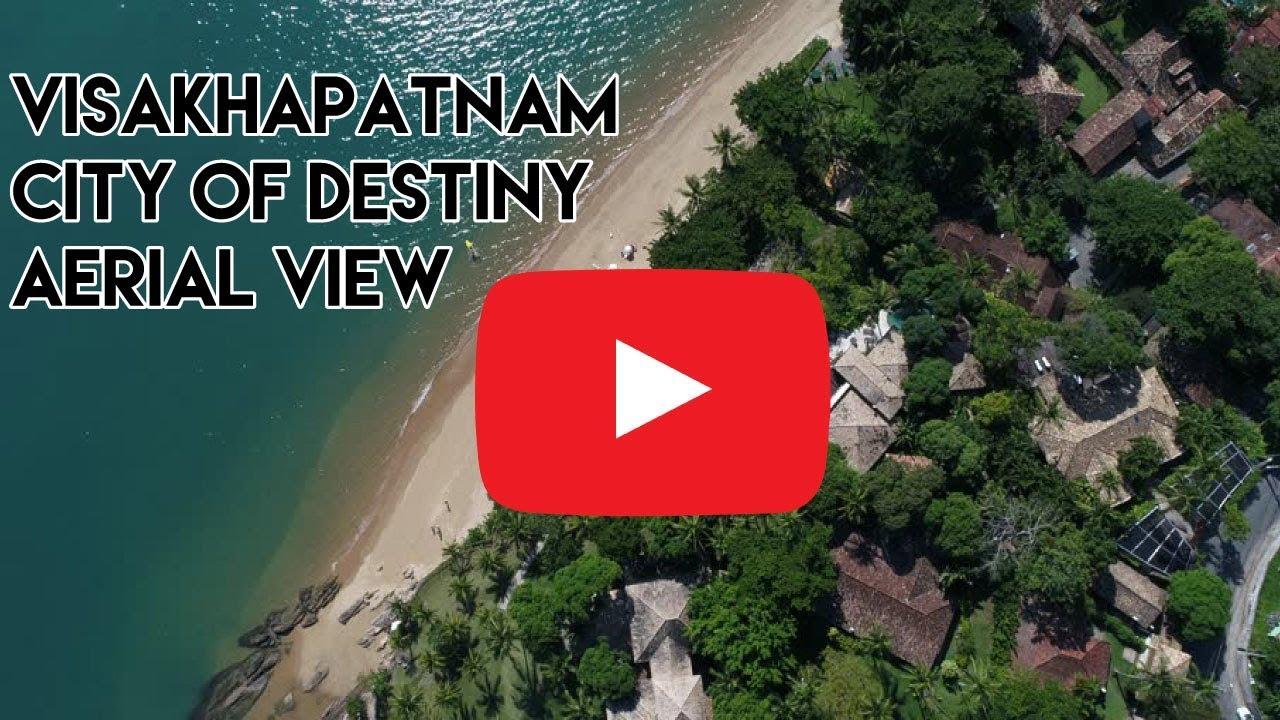 Vizag city of Destiny Aerial view - Beach Road Visakhapatnam 2017-11-09 11:23