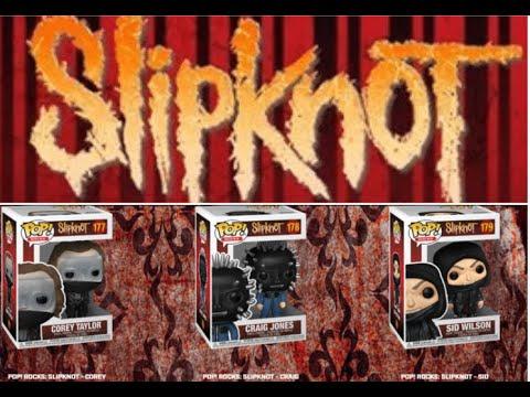 Slipknot Funko Pop! figures 3 members released Corey Taylor, Sid and Craig Jones