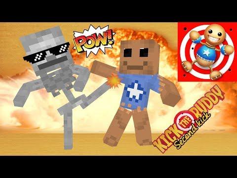 Monster School : KICK THE BUDDY GAME CHALLENGE II - Minecraft Animation