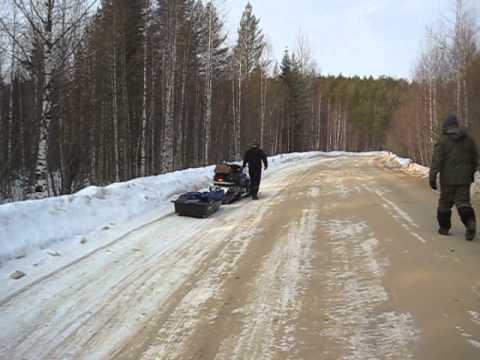 Снегоход, бережем склизы))).