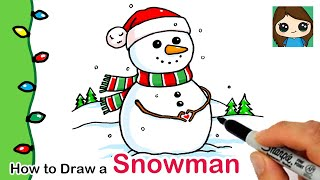 How to Draw a Snowman | Christmas Series #4