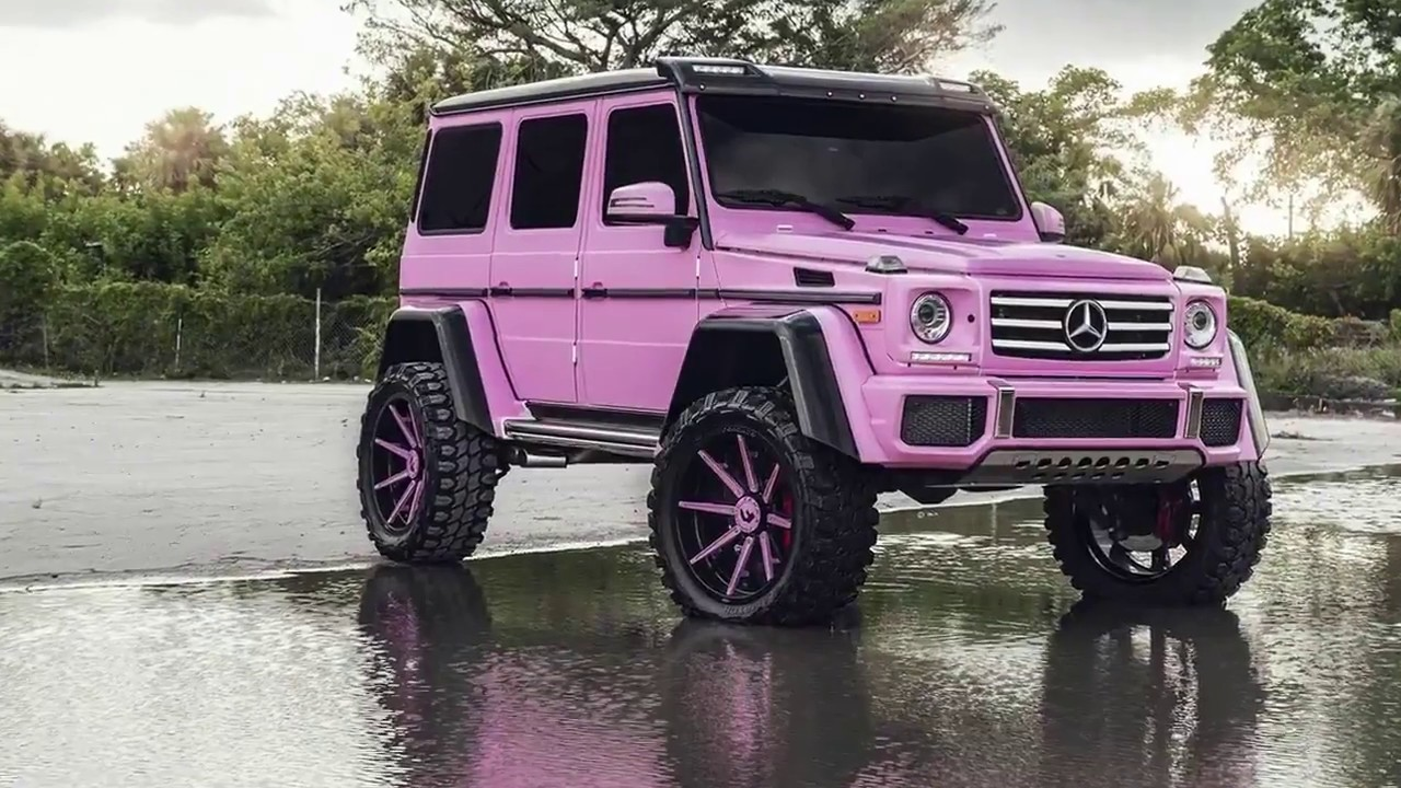 Pink Mercedes G Class 4 4 Squared Is All About Girl Power Video