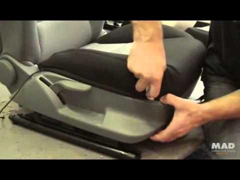 Stoelhoezen audi a3 bekleden voorstoel youtube for Interieur auto bekleden