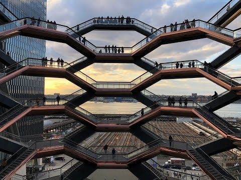 ⁴ᴷ⁶⁰ Walking NYC : The Vessel at Hudson Yards