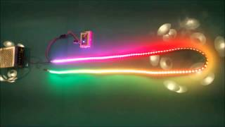 144 led strip with arduino mini pro and the adafruit neopixel library