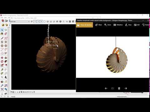 Nautilus hanging lamp | SketchUp