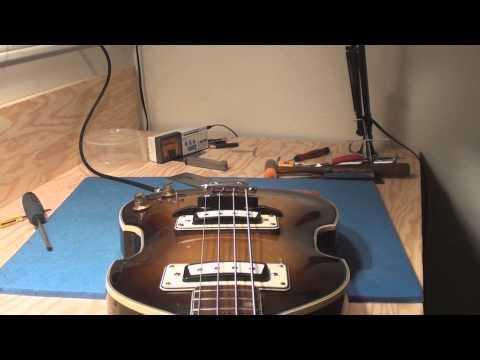 Aria Beatle Bass Guitar gets a Bridge