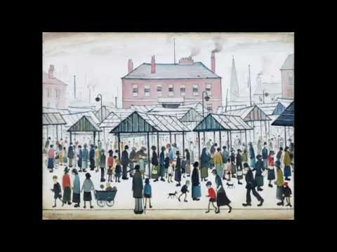 Collage of Paintings by L S Lowry