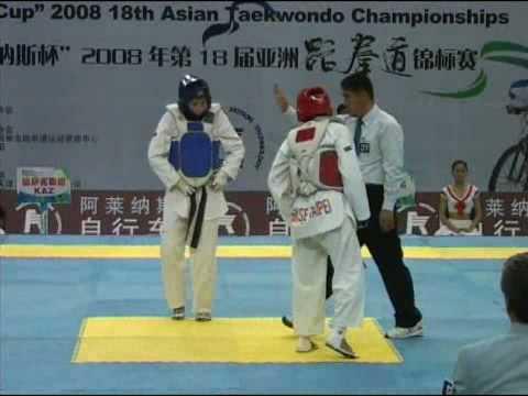 18th Asian Taekwondo Championships 2008 Female -59 kg Kazakhstan vs Chinese Taipei Round 2